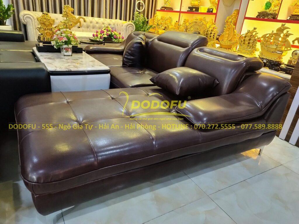 ghế sofa da Hải Phòng cỡ lớn cao cấp