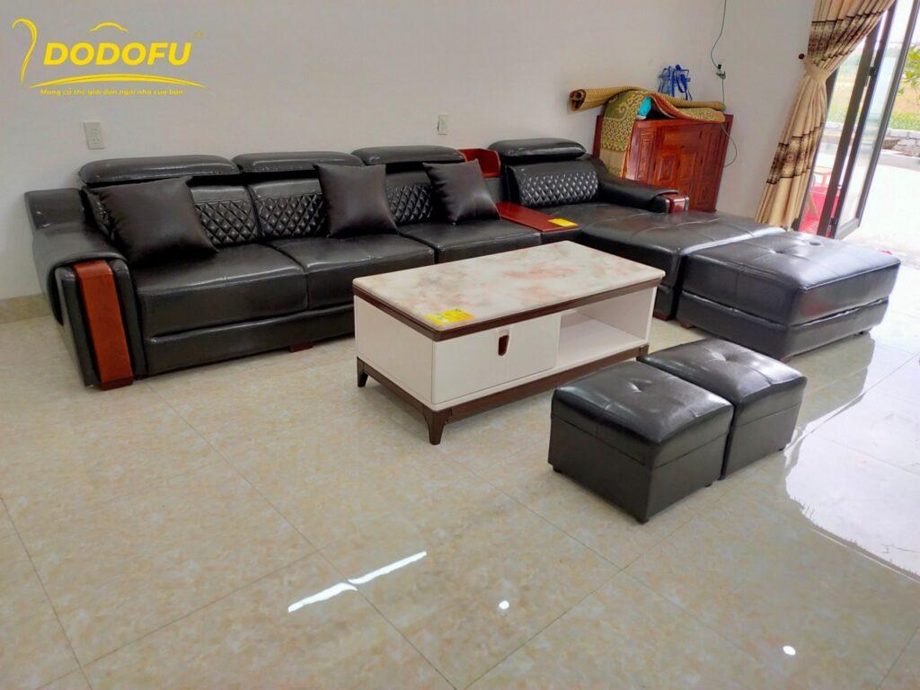 ghế sofa da kích thước lớn hải phòng